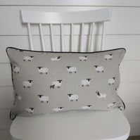 Sophie Allport Sheep   Cushion with Black Piping