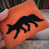 Tweed Fox Coin Purse.