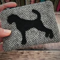 Tweed Boxer Dog Coin Purse.