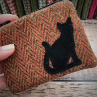 Tweed Cat Coin Purse.