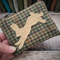 Tweed Hare Coin Purse.