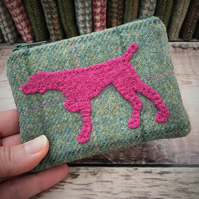 Tweed Pointer Dog Coin Purse.