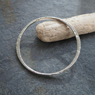 Hallmarked Silver Bangle  - Forged Sterling Silver Bangle