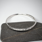 Petite Sterling Silver Bangle, Hallmarked Silver Bangle