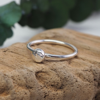 Recycled Silver Pebble Ring