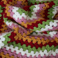 Toddlers Autumn Colours Crochet Blanket