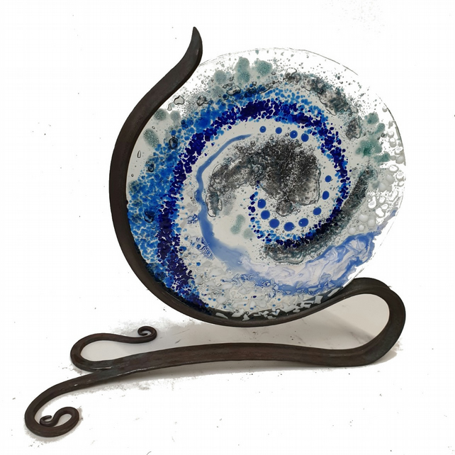 Anton Glass Art Stand - Make your own interior sculpture - 20cm diameter Glass