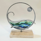 Time and Tide Sculpture - Steel Metal and Glass Art - Contemporary Design