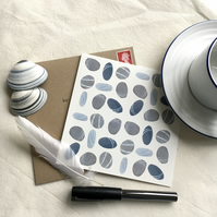 Pebbles pattern (set of 5 square cards)