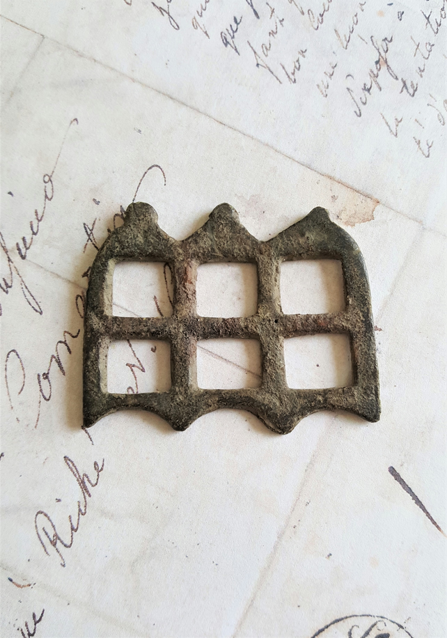 Ancient Brass Belt Buckle 18th C Archaeological Find Steampunk Supplies