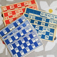Vintage Bingo Card Ephemera Inspiration Craft Supplies