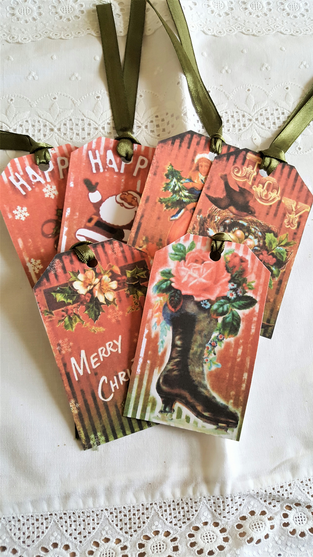 Christmas Gift Tags Vintage Style Merry Christmas Journal Supplies