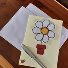 Daisy Flower and ladybird card