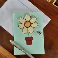 Flower and Bee Card