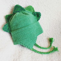 Knitted Dino hat 3-5years