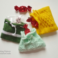 KNITTING PATTERN - Party Favour Bags - Beginners knitting project