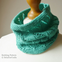 KNITTING PATTERN - Eyelet Neck Warmer - Children's Knitwear