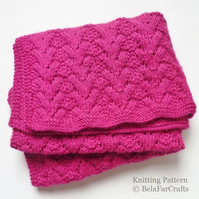 KNITTING PATTERN - Baby Basket Blanket - Advanced level