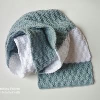 KNITTING PATTERN - Boys Textured Scarf - Children's Knitwear