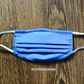 Blue washable face covering with nose wire and filter pocket (postage included)