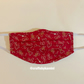 Christmas washable face covering with nose wire and filter pocket (P&P inc)