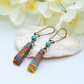 Red, Yellow & Blue Howlite Earrings