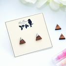 Hand Painted Wooden Mountain Earrings