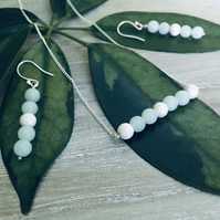 Amazonite and Sterling Silver Necklace and Earrings Set - Delicate and Elegant