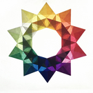 Window Star, Rainbow, Waldorf Star, Paper Origami, Suncatcher, Colourful