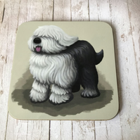 Old English Sheepdog Coaster