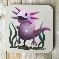 Axolotl Square Coaster
