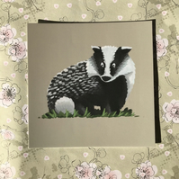Badger Square Post Card