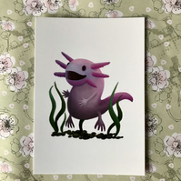 A6 Animal Post Card (White Background)
