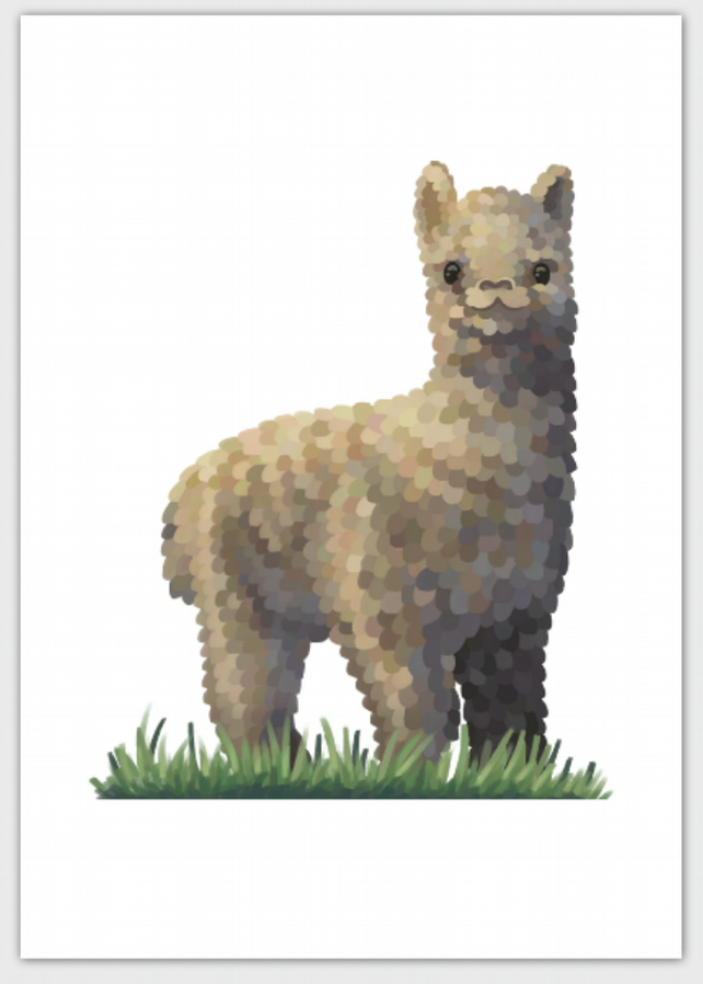 Alpaca Blank Greeting Card