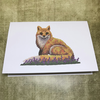 Fox Blank Greeting Card