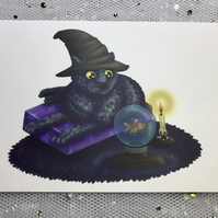 A6 Halloween Animal Post Card (White Background)