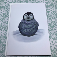 Baby Penguin Blank Greeting Card