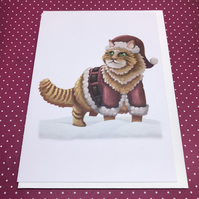 'Santa Claws' Blank Greeting Card