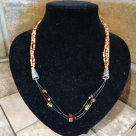 Summer Square Burst Necklace