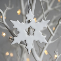 Snowflake decoration - White