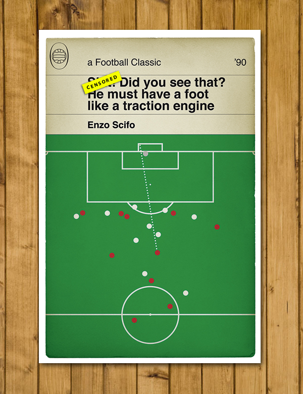 Alan Partridge Commentary - Foot like a Traction Engine - Football Poster - A3