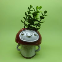 Mushroon face pot