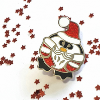 Santa Penguin Pin Badge Enamel Brooch