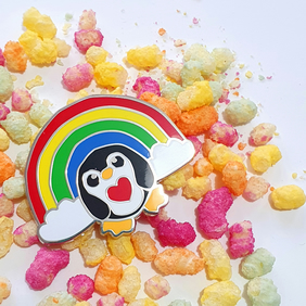 Epic Rainbow Penguin Enamel Pin