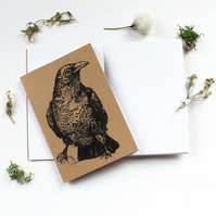 A6 Raven Pocket Notebook with Lined or Plain Pages Gothic Bird Notebook