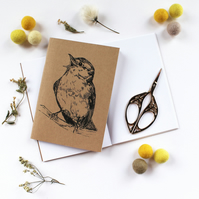 A6 Singing Bird Wood Warbler Pocket Notebook with Lined or Plain Pages