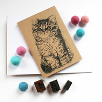 A6 KItten Notebook with Kraft Cover Cat Noteboo