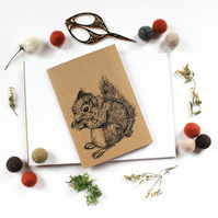 A6 Squirrel Pocket Notebook with Lined or Plain Pages