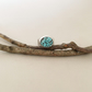 Turquoise Ring - Wide Band Ring - Silver Ring - Spider Turquoise