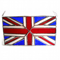 Union Jack Stained Glass Suncatcher Handmade British Flag 010